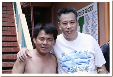 Divemaster Roger with the Drunken Dugong