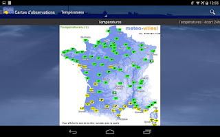Screenshot of Météo Paris