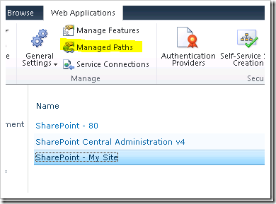 How To Configuration My Site in SharePoint 2010