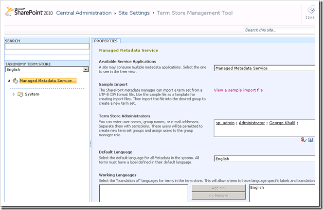 How to Configuration the Managed Metadata Service Application in SharePoint 2010-Part 1