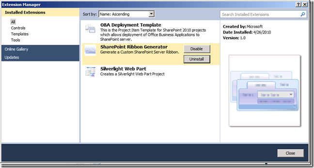 Rapid Development Ribbon in SharePoint 2010