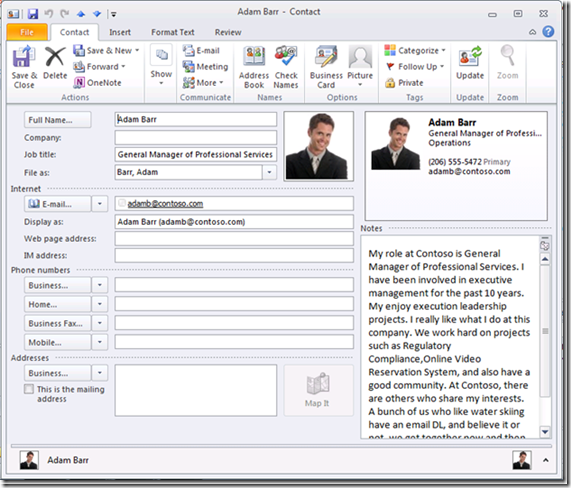 Sync Your SharePoint 2010/2007 Contacts with Outlook