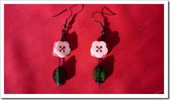 Handmade Earrings Buttons