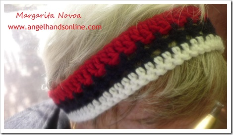 crochet ear warmer and headban