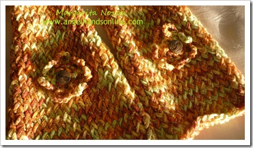 Handmade scarf in golden colour