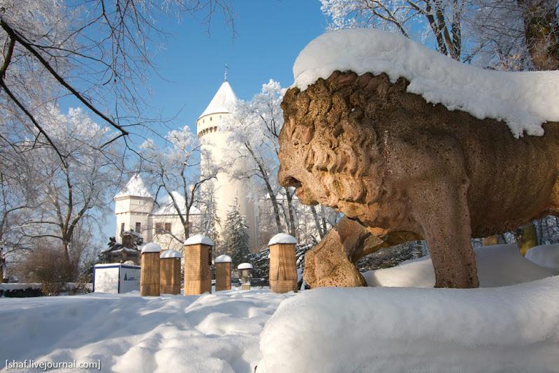 Чехия, замок Конопиште (Konopiste), зима