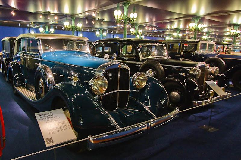 Автомузей; Национальный музей автомобилей, Мюлуз (Mulhouse), Франция; Maybach, Cabriolet DS8, 1934