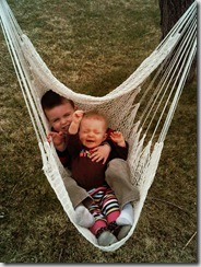 Matt and Emma in a Swing