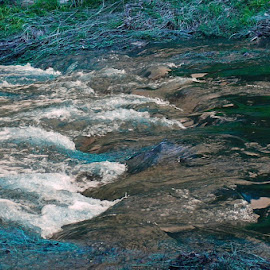Streaming by Leigh Martin - Nature Up Close Water ( river stream flow )