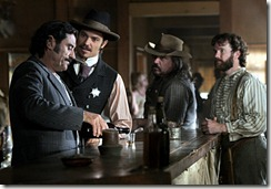 Deadwood courtesy Doug Hyun/HBO Ian McShane, Timothy Olyphant, W. Earl Brown and Sean Bridgers