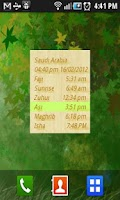 Screenshot of islamic prayer times صلاة