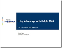 Advantage with Delphi 2009 - Part 3