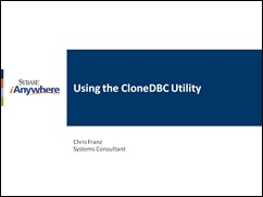 Using the CloneDBC utility