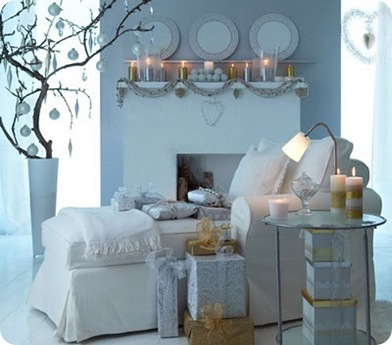 Holiday decorating in white ikea