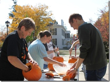 Carving Pumpkins at ESR