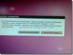 Ubuntu pide reiniciar