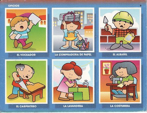 APRENDER LOS OFICIOS. CUADRICULAS CON OFICIOS
