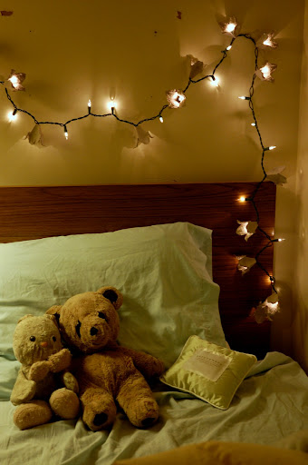 lights over the headboard