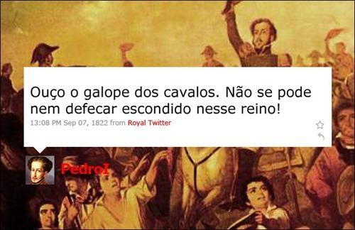 Dom Pedro - Coleção de tuitadas históricas