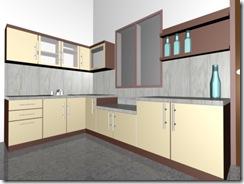 Sketchup lover desain kitchen set for Cara bikin kitchen set