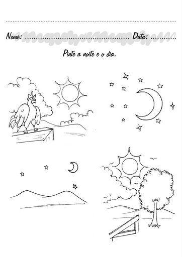 Imagenes Para Colorear Dia Y La Noche Mejor Conjunto