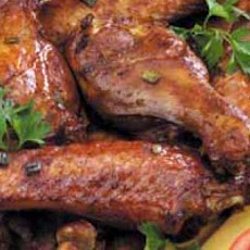 Oven Barbecued Turkey Wings