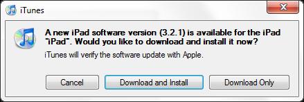Update za Apple iPad
