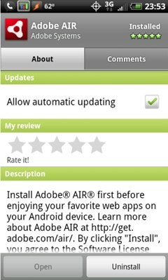 Adobe AIR Android Market