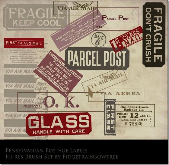 Postage_label_brush_set_by_FidgetResources