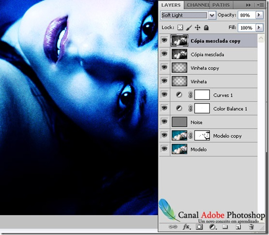 Blue Effect Photoshop tutorial 11