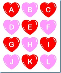 Valentines Day ABC Hearts1