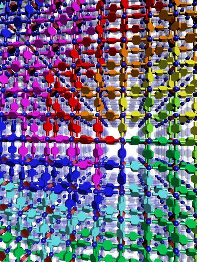 UCLA chemists Omar M. Yaghi and Hexiang Deng led a team that created three-dimensional synthetic DNA-like crystals that have a sequence of information which is believed to code for carbon capture. The discovery, published in the journal Science, could result in a new way to capture heat-trapping carbon dioxide emissions and could lead to cleaner energy. (Credit: CNSI, UCLA-Department of Energy Institute of Genomics and Proteomics)