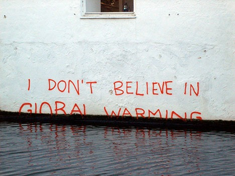 I Don't Believe in Global Warming, by Banksy, December 20, 2009. Photo: TheMammal via flickr