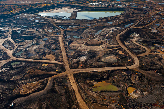 Alberta Oil Sands. Once boreal forest, the Athabasca oil sands are the site of the world's second-largest oil reserves and America's single largest source of oil. Over the next two decades, plans call for the industrialization of an area of land the size of Florida. Garth Lenz / overoll.com