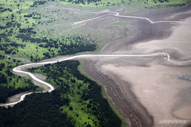 2010 Drought in the Amazon Basin. Rivers of the Amazon Basin face severe drought. © Rodrigo Baléia / Greenpeace