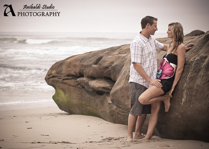 la jolla engagement photo