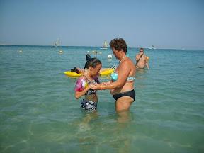 Marianka - chodí v mori, držanie z predu, predtým ju museli držať zo zadu, ináč jej utekali nohy skôr, ako zvyšok tela