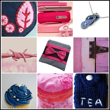 Navy & Pink