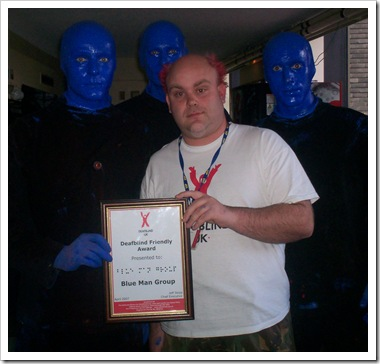 London – The blue man group