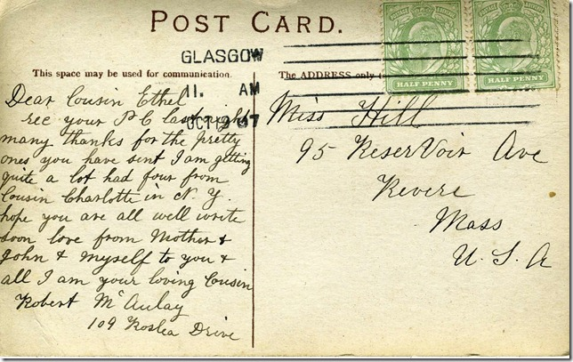 Glasgow Postcard Reverse (1 of 1)