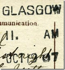 Glasgow Postcard Cancellation (1 of 1)