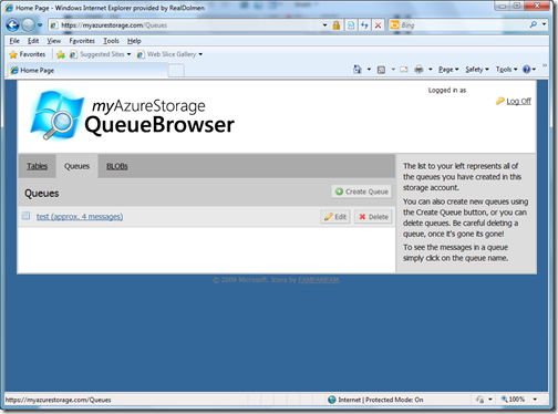 MyAzureStorageQueue