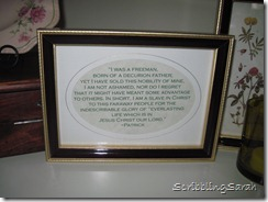 Framed St Patricks quote