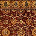 This fragmentary carpet represents the highest level of Indian production, what might be called imperial grade. It looks and feels like velvet, but the pile is actually knotted from pashmina wool, made from the fleece of Himalayan mountain goats. The weave is extremely fine, especially for a carpet as large as this one must have been. What remains is approximately one-quarter of the original. In most Islamic cultures the finest carpets were woven in silk. Only in India was wool, admittedly a very special wool, prized more than silk. The style of this carpet, with its total reliance on floral forms, is consistent with the taste of the emperor Shah Jahan, as manifested also in the architectural decoration and manuscript margin illumination created by the gifted artists of his court.