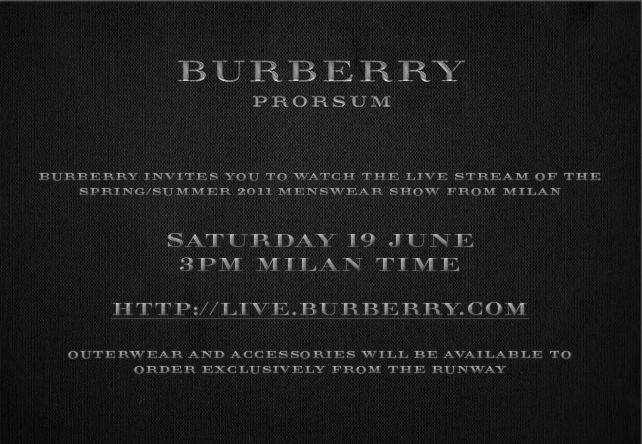 11 live stream burberry prorsum dolce gabbana and emporio armani