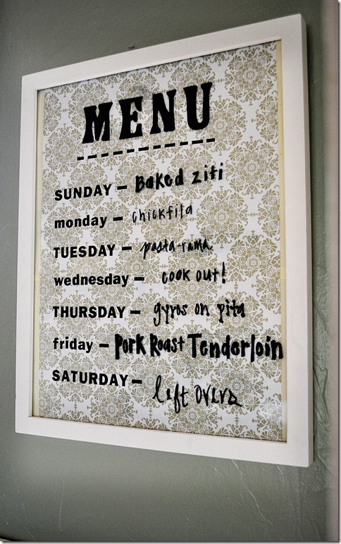 menu board