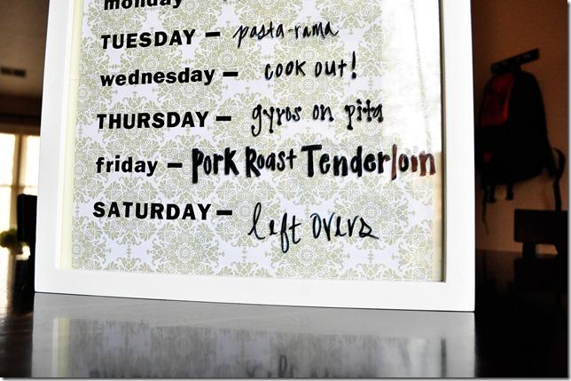 menu days
