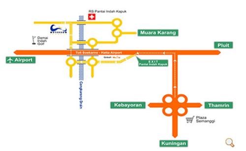 خريطة جاكرتا السياحية