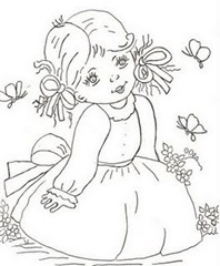 Menina-para-pintar-em-tecido