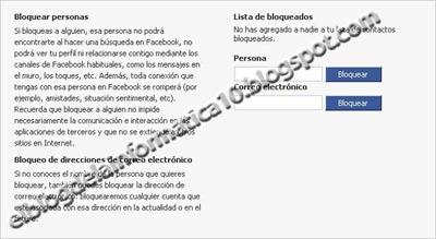 Bloquear contacto en Facebook - opción en facebook